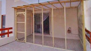 DIY Cat Enclosure For Balcony