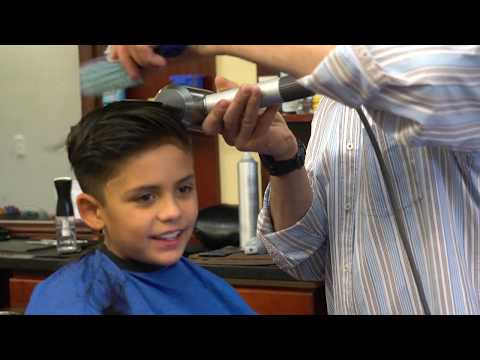 Boy's Haircut tutorial: Fade with a Comb Over