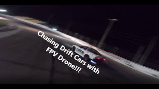 Chasing Drift Cars with FPV Drones