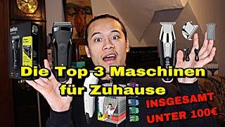 DIE TOP 3 BEGINNER Haarschneidemaschinen für Zuhause | Gesamtwert UNTER 100€ | NUYÄN
