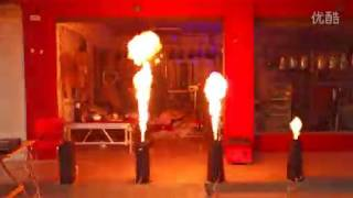 DMX stage fire machine/spray the fire/stage flame thrower