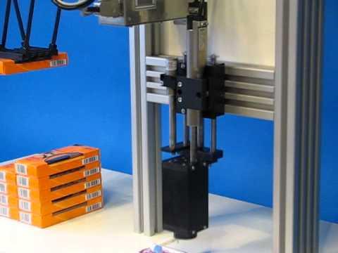 Movimientos lineal y rotatorio de un actuador LinMot