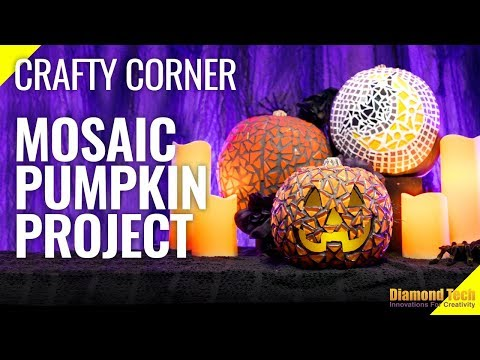 Diamond Tech Craft Mosaic Pumpkins Project:  Halloween Crafty Corner