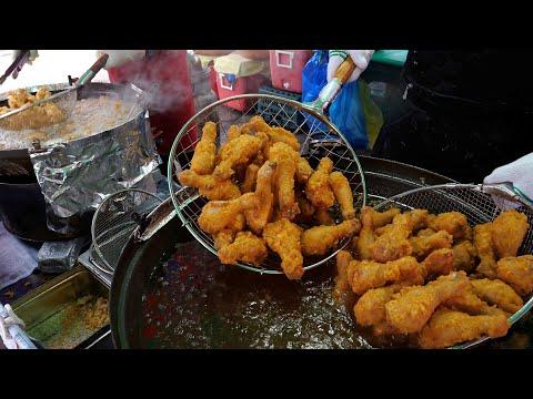 Selling 100 kg a day! Korean Fried Chicken, Dakgangjung | Korean Street food