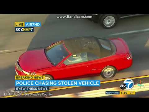 Los Angeles Police Chase 10//11/2018 - Reckless Driver Stolen Car Pursuit