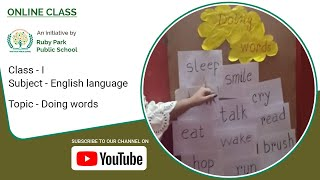 Doing Words | Action Words | English Language For Class I | Ruby Park Public School Thumbnail