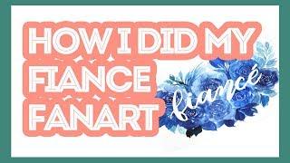 How I did my Fiance fanart (masking fluid & watercolor)