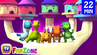 Finger Family Dinosaurs & Many More 3D Nursery Rhymes & Songs for Babies