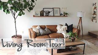 Mid-Century Modern Living Room Tour 2019   Our Florida Reno