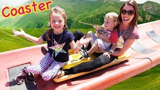 GIANT  Roller Coaster IN THE SKY That Goes Down an Entire Mountain!!!