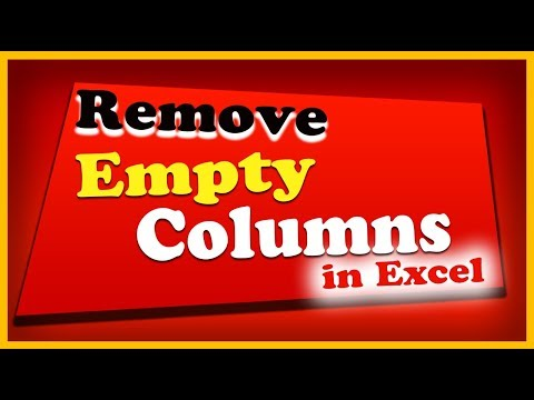 How to Remove Empty Columns in Excel?