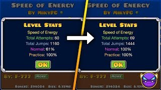 "¡¡INTENTOS CALCULADOS!! - ""Speed of Energy"" [DEMON] by MikyFC [GD 2.11] 
