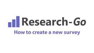 How to create a new survey