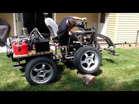 Homemade honda wheel loader part 5