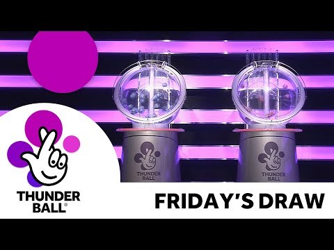 The National Lottery 'Thunderball' draw results from Friday 16th March 2018