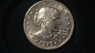 1979 D Susan B Anthony Dollar Coin (Mintage 288 Million)