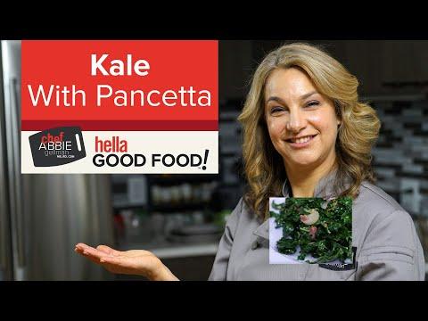 Crispy Pancetta with Kale