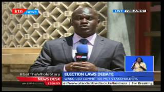 News Desk: Election laws debate 5/01/2016