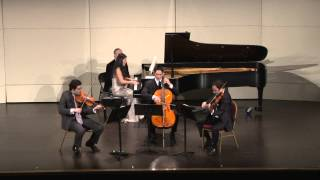 Schumann Piano Quartet 2nd Movement: Xiayin Wang, David Lisker, Bela Horvath, Hiro Matsuo