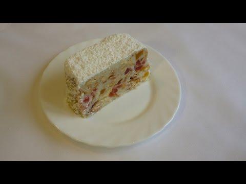 Торт- полено из белого шоколада с кокосовым орехом без выпечки