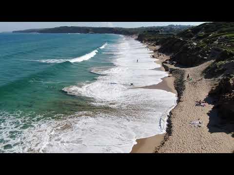 Scenic aerial footage of Jan Juc