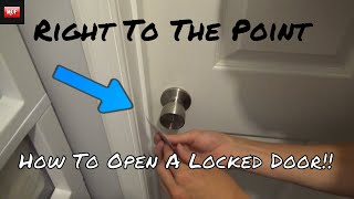 How To Open A Locked Door With Any Kind Of Plastic Card!
