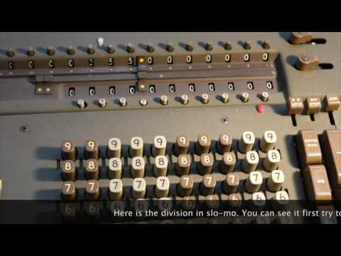 Dividing by zero on a Friden mechanical calculator