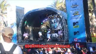 DJ Tira   Malume Ft Tipcee  Crazy Dance Moves At #DubaneSpringBreak Ushaka Marine World
