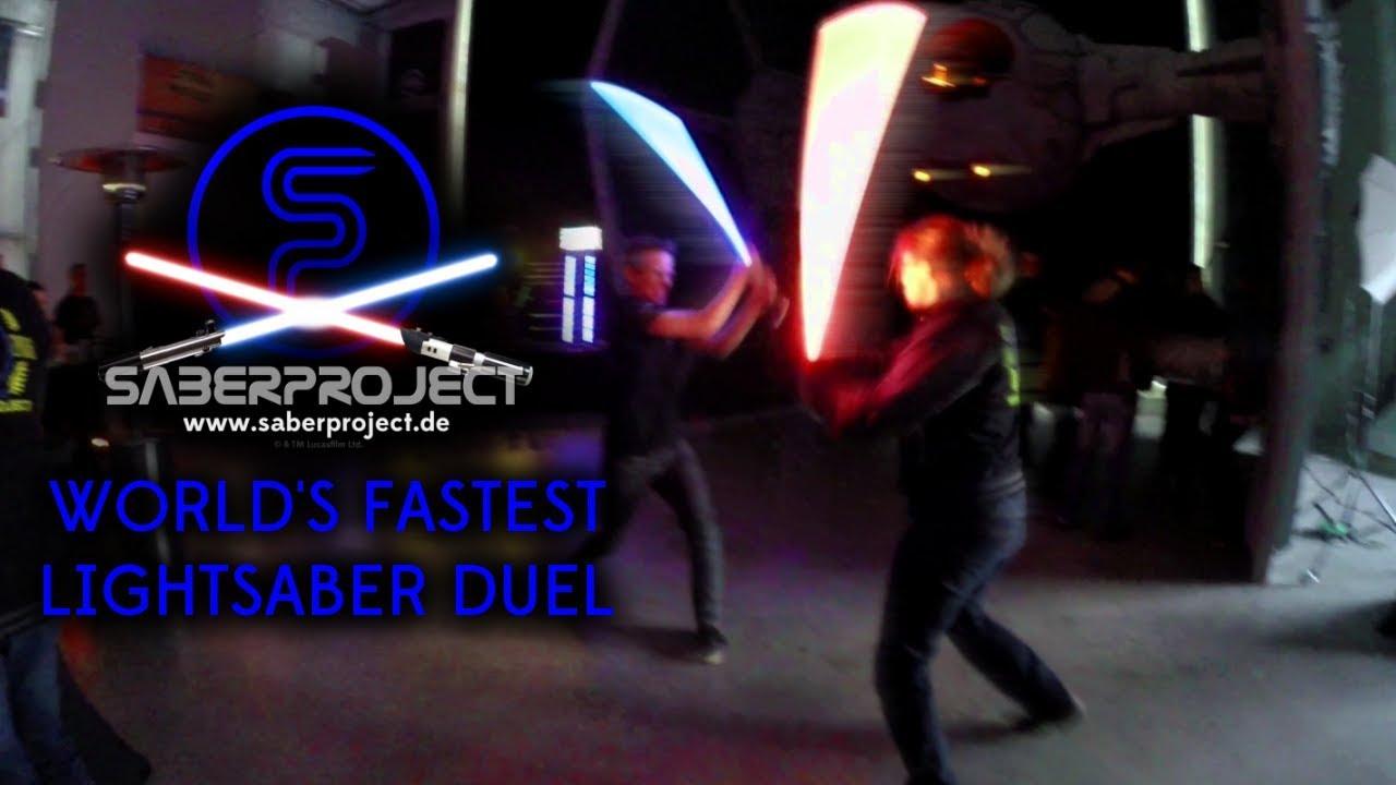 Das schnellste Lichtschwert-Duell der Welt