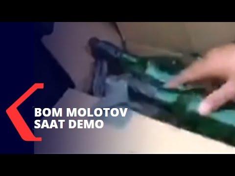 bom molotov sekardus ditemukan saat demo makassar