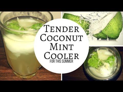 Easy Tender Coconut Mint Cooler | ഈ  വേനൽക്കാലത്തു കുടിക്കാം സ്പെഷ്യൽ  കരിക്കിൻ വെള്ളം