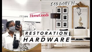 WEEKLY VLOG: Home Goods Shop With Me, Restoration Hardware DUPES + Home Decor HAUL!