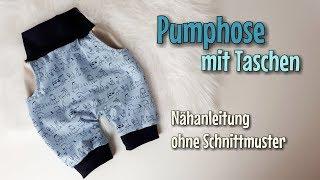 Pumphose mit Taschen - Nähanleitung OHNE Schnittmuster - Für Anfänger - Nähtinchen
