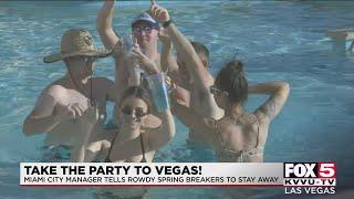 Las Vegas prepares for spring breakers