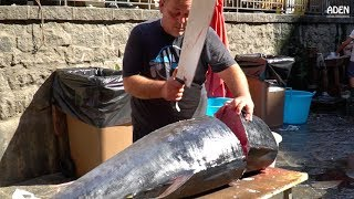 Рыбный рынок на Сицилии: Тунец и Марлин