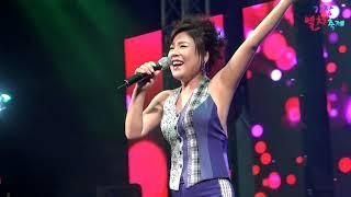 가수 김연자 - 밤열차(신곡)외 가요,민요메들리(2017, 기장멸치축제 공연)
