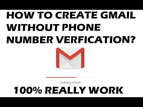Create a gmail account without phone number verification
