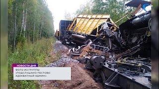 В Пестовском районе сошел с рельсов поезд и 2 вагона, груженых щебнем