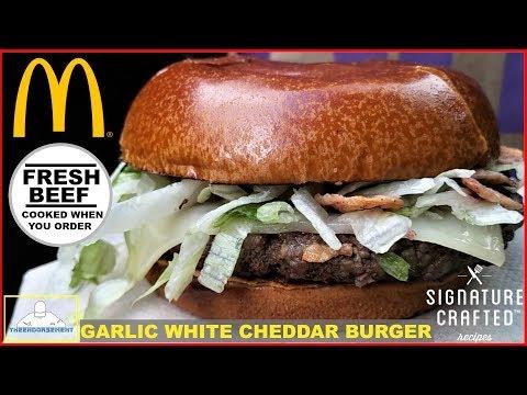 McDonald's® | Garlic White Cheddar Burger Review | 100% FRESH BEEF