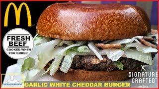 McDonald's® | Garlic White Cheddar Burger Review | 100% FRESH BEEF - Video Youtube