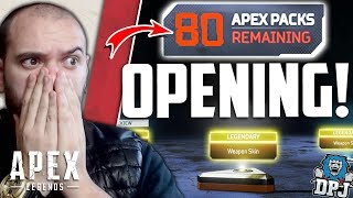 Apex Legends - OPENING 80+ APEX PACKS! - Amazing Legendary Loot Results!