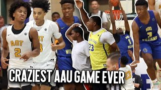 WILDEST Game in PEACH JAM History?! Sharife Cooper's Last AAU Game Was A OT CLASSIC! AOT V BOO UNCUT