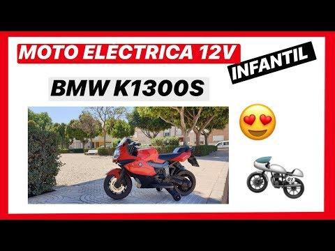 Moto eléctrica infantil 12v Bmw k1300S -