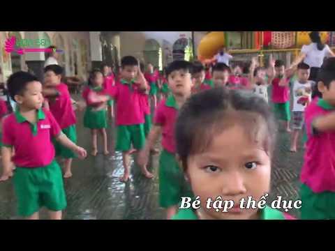Bé tập thể dục- Trường mầm non Hoa Sen Ninh Thuận