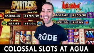 NEW Colossal Slots 🎰 Spartacus vs Lil' Red at Agua Caliente