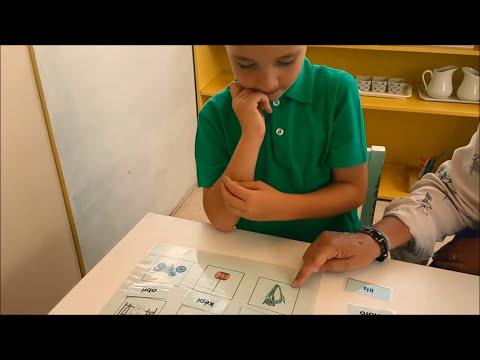 Méthode Montessori 6 : Lire des mots de 4 lettres