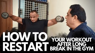 How to Restart Your Workout After Long Break In The Gym