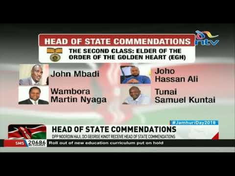DPP Noordin Haji, DCI George Kinoti receive head of state commendations