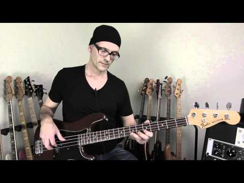 How to play a advanced pentatonic scale bass run in all keys in the circle of fifths