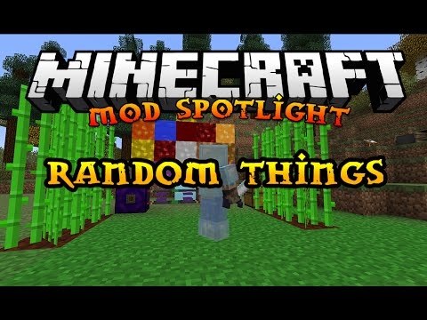 Minecraft Mod Spotlight: Random Things ( 2.1 | MC 1.7.2 )